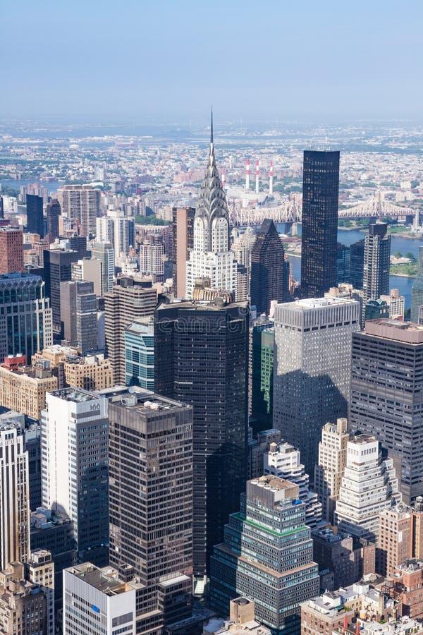 Vista panorâmica do Midtown Manhattan como visto do Stat do império foto de stock royalty free