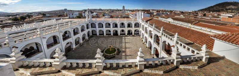 Vista panorâmica do monastério de Felipe Neri no sucre, Bolívia fotos de stock royalty free
