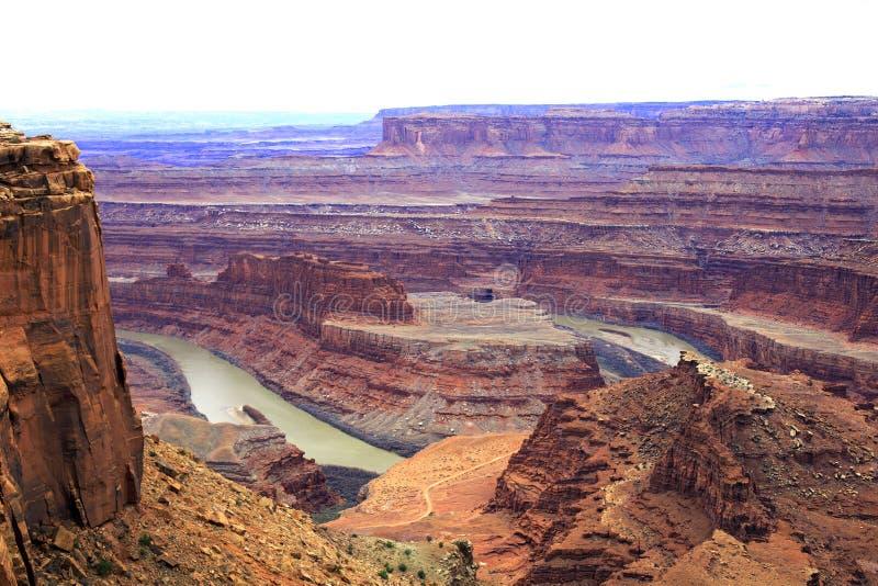 Vista panorâmica do parque estadual cênico do ponto do cavalo inoperante, Utá, imagem de stock royalty free