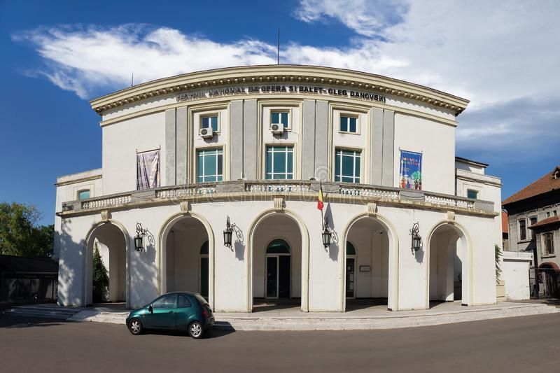 Vista panorâmica do teatro nacional do bailado e da ópera em Constanta, Romênia fotos de stock royalty free