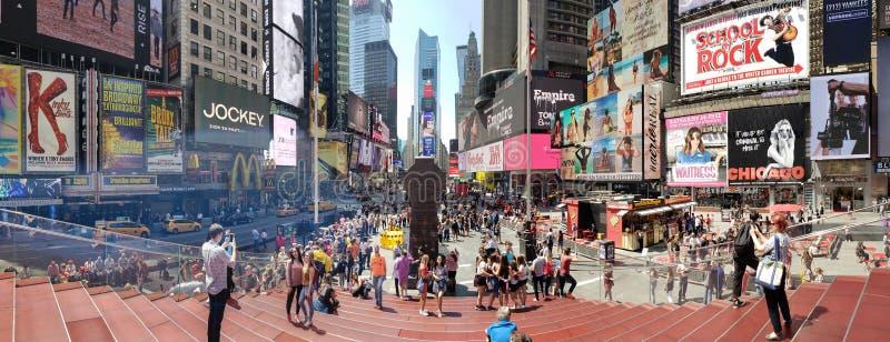 Vista panorâmica do Times Square imagem de stock