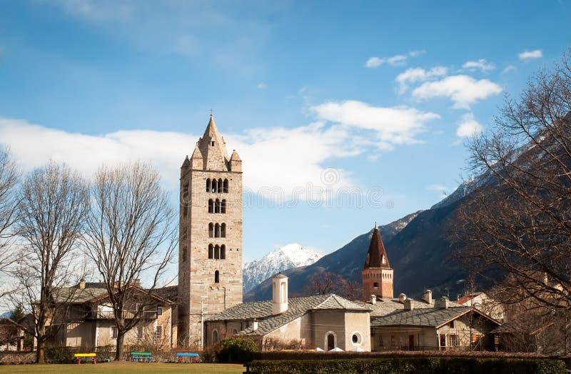 Vista panorâmica do Vale de Aosta imagem de stock royalty free