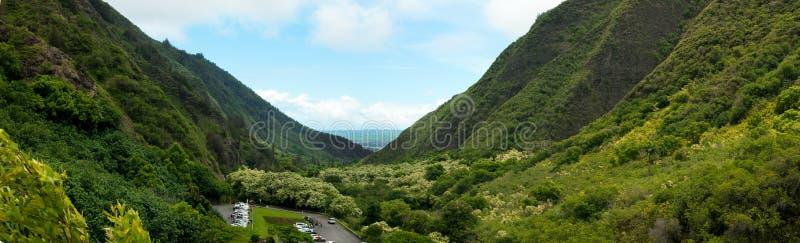 Vista panorâmica do vale de Iao imagens de stock royalty free