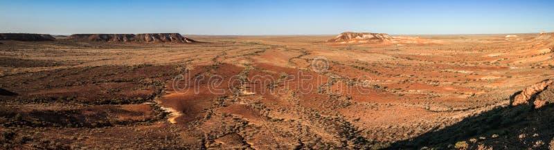Vista panorâmica dos mesas no parque da conservação dos Breakaways, coober pedy, Sul da Austrália, Austrália fotos de stock royalty free