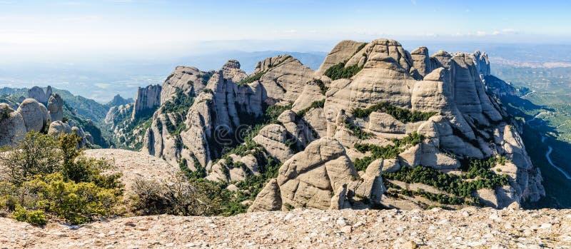Vista panorâmica em Montserrat Mountain, Espanha imagem de stock royalty free