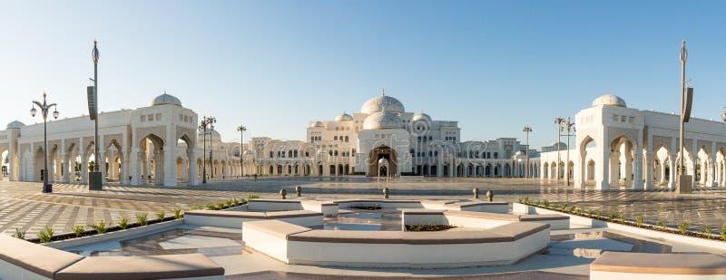Vista panorâmica em Qasr Al Watan, palácio da nação, Abu Dhabi fotografia de stock