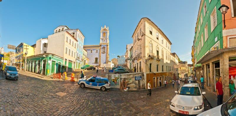 Vista panorâmica em Salvador de Bahia foto de stock royalty free
