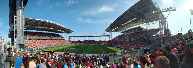 Vista panorâmica em Toronto FC fotografia de stock royalty free