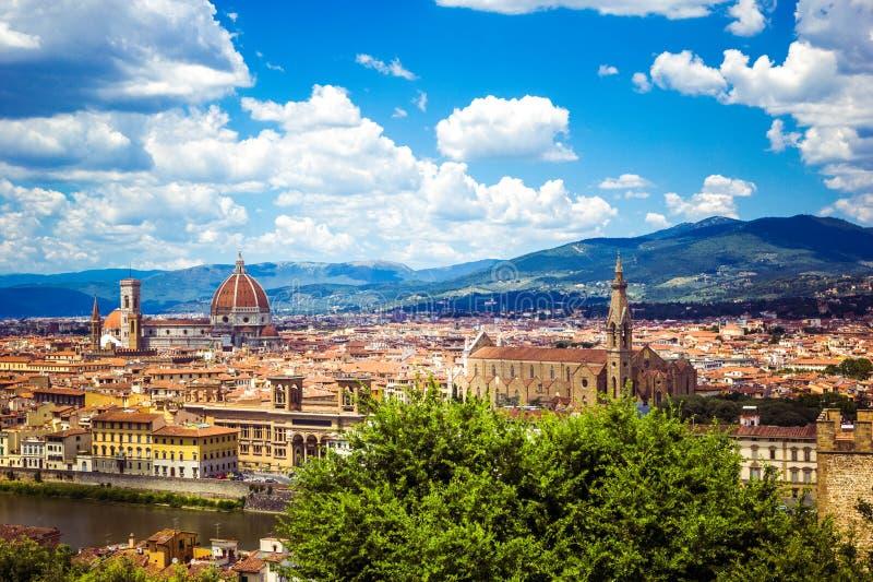 Vista panorâmica Florence Firenze, Toscânia, Itália imagens de stock royalty free