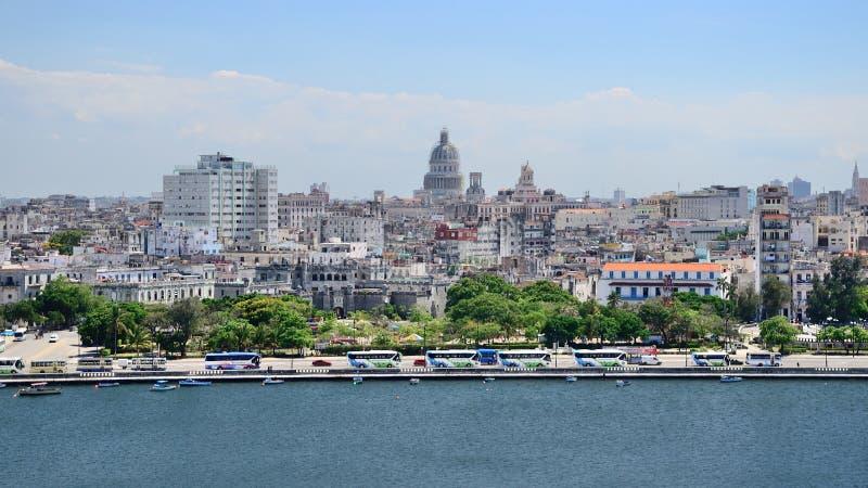 Vista panorâmica a Havana, Cuba fotografia de stock royalty free