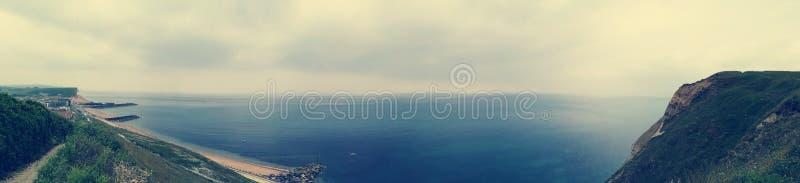 Vista panorâmica jurássico da costa fotos de stock