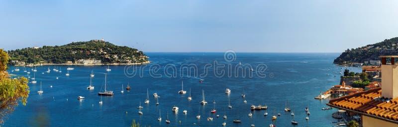 Vista panorâmica larga de Cap Ferrat, França foto de stock