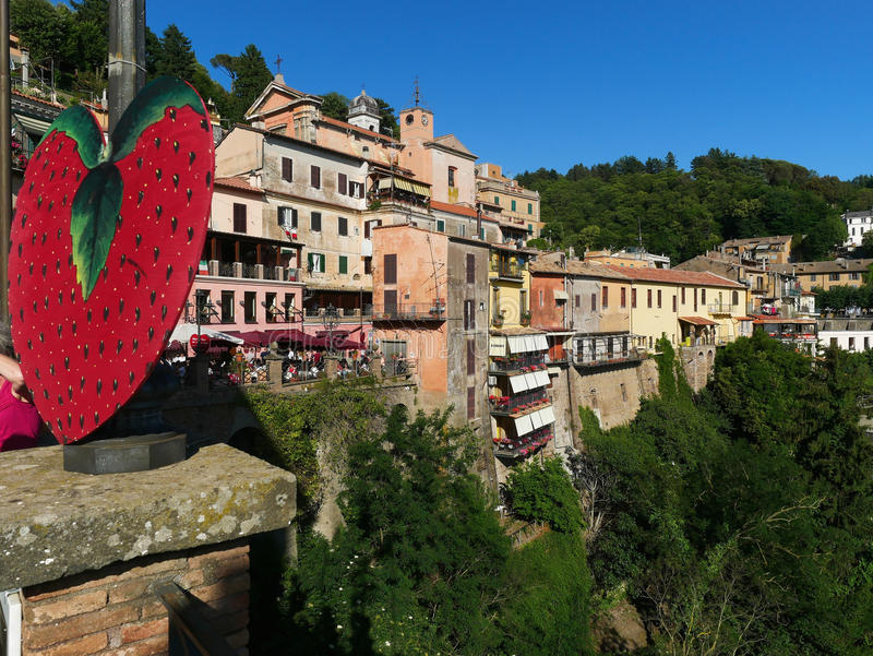 Vista panorâmica Nemi Itália fotos de stock royalty free