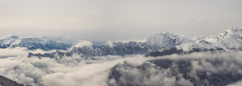 Vista panorâmica no parque nacional de Valgrande foto de stock
