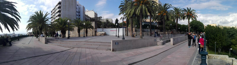 vista panorâmica no passeio de Tarragona foto de stock