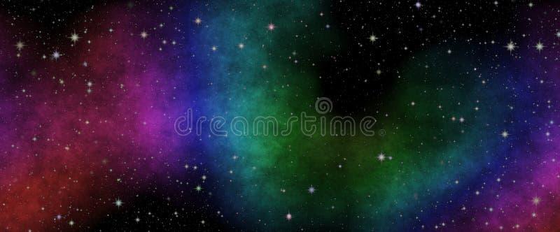 Vista panorâmica nova no espaço profundo O segredo da ciência Descobrindo planetas distantes imagem de stock royalty free