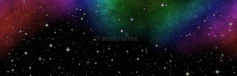 Vista panorâmica nova no espaço profundo O segredo da ciência Descobrindo planetas distantes fotos de stock
