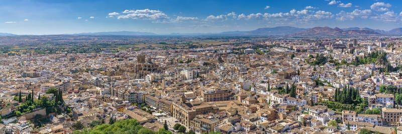 Vista panorâmica sobre Granada foto de stock