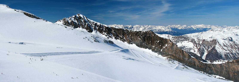 Vista panorâmico da geleira de Hintertux. fotos de stock