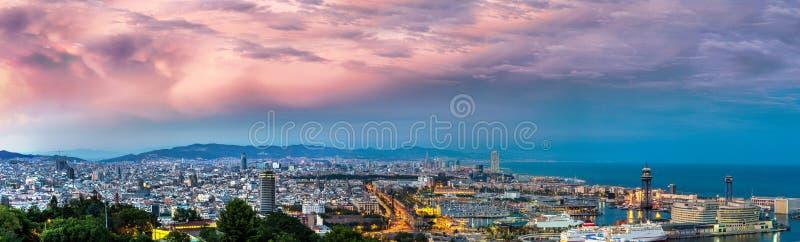 Vista panorâmico de Barcelona fotografia de stock royalty free