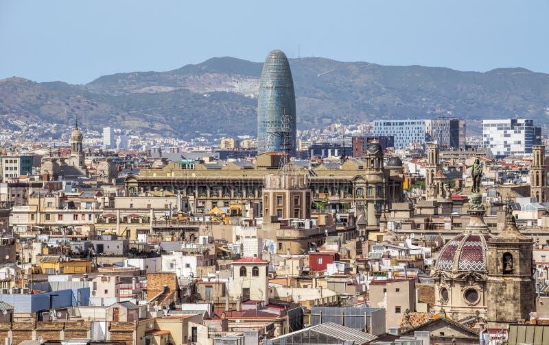 Vista panorâmico de Barcelona fotos de stock royalty free
