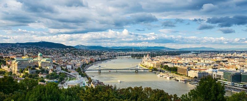 Vista panorâmico de Budapest, Hungria fotografia de stock