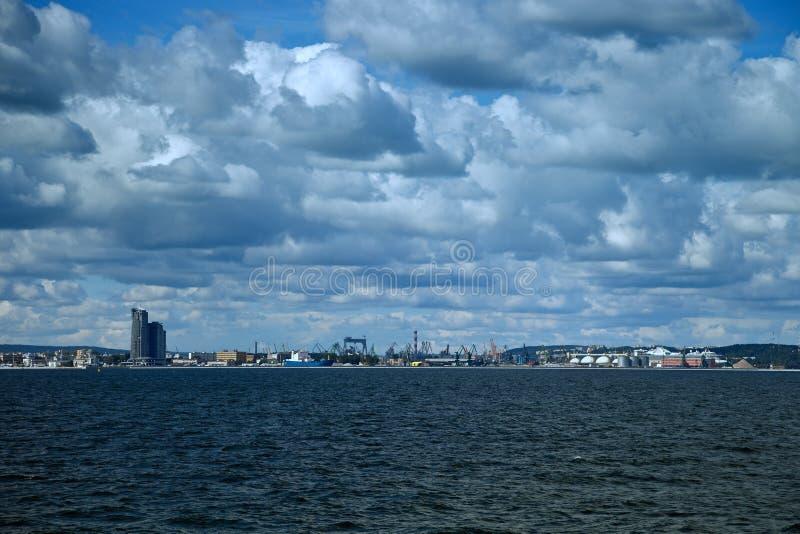 Vista panorâmico de Gdynia imagens de stock