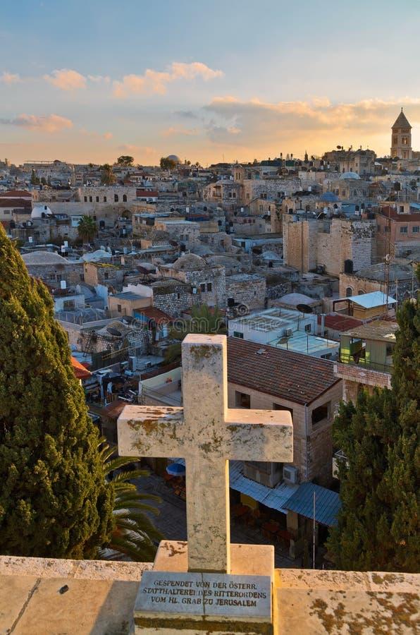 Vista panorâmico de Jerusalem imagem de stock