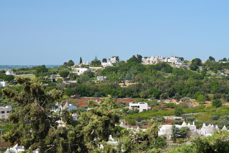Vista panorâmico de Locorotondo Puglia Italy fotos de stock