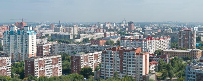 Vista panorâmico de Novosibirsk fotografia de stock