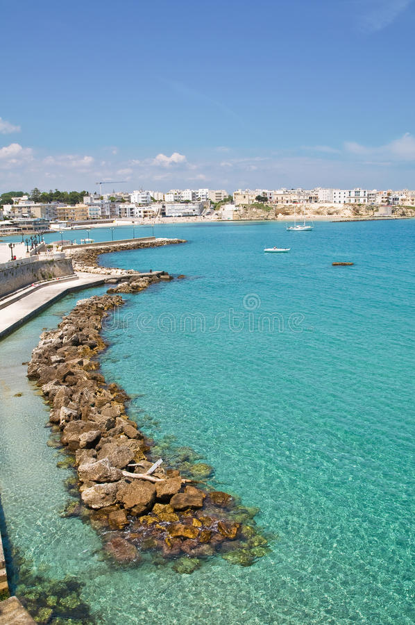 Vista panorâmico de Otranto. Puglia. Italy. fotografia de stock royalty free
