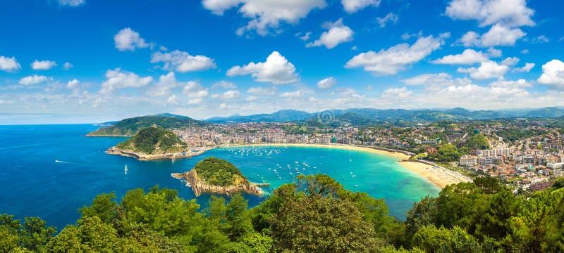 Vista panorâmico de San Sebastian fotografia de stock