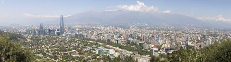 Vista panorâmico de santiago do Chile imagem de stock royalty free
