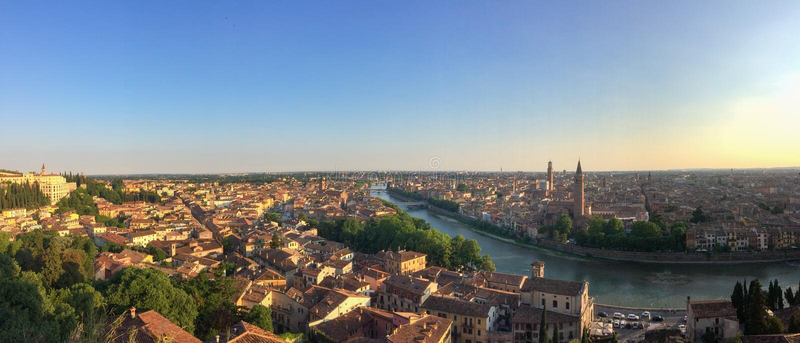 Vista panorâmico de Verona, Italy fotografia de stock