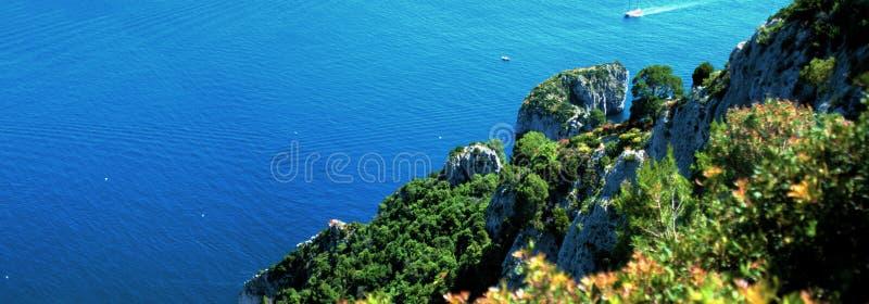 Vista panorâmico do console de Capri imagens de stock