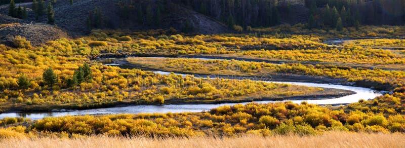 Vista panorâmico do rio de serpente fotos de stock
