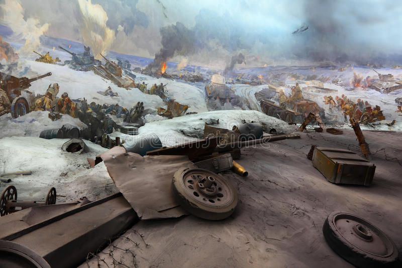 Vista panorâmico no museu em Mamaev Kurgan imagem de stock