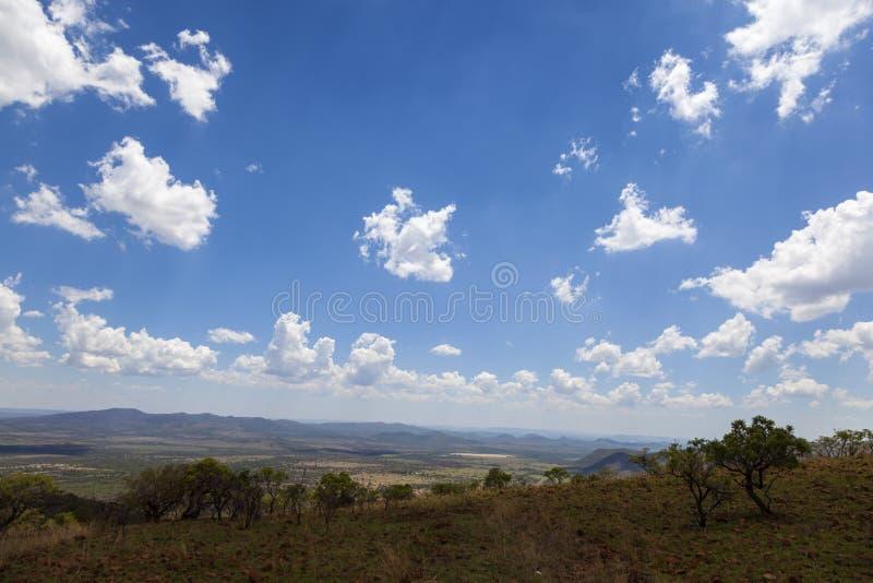 Vista panorâmico sobre a meseta do arbusto imagem de stock royalty free