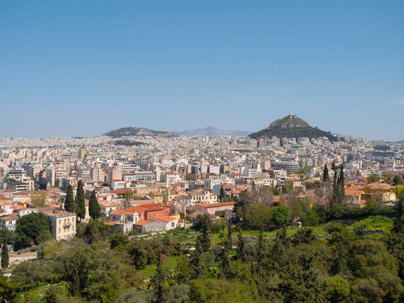 Vista panor?mica da cidade de Atenas fotografia de stock