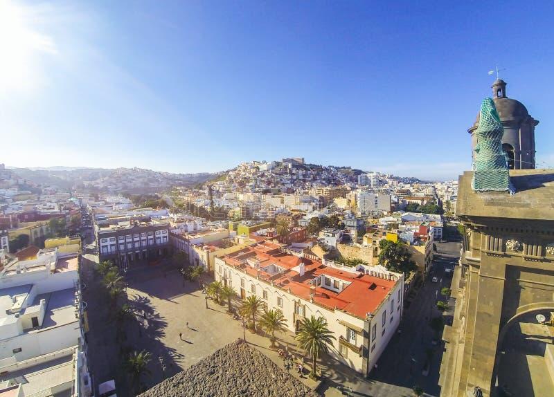 Vista panor?mica da cidade de Las Palmas de Gran Canaria, can?rio, Espanha imagem de stock royalty free