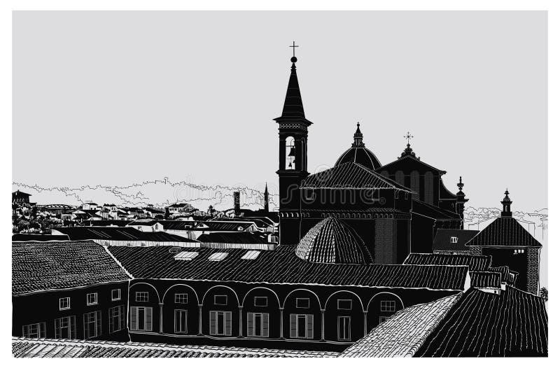 Vista panor?mica de Florencia stock de ilustración