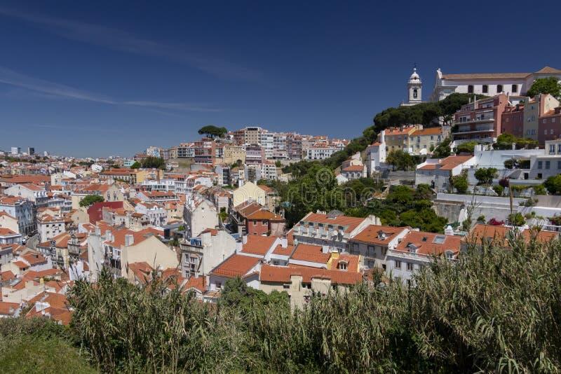 Vista panor?mica de Lisboa fotos de archivo