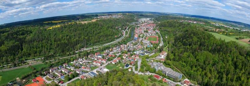 vista panor?mica a Sulz Alemania foto de archivo libre de regalías