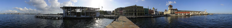 vista panoramica 360 del porto di Avana. NOVEMBRE 2008 fotografia stock libera da diritti