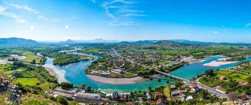 Vista panoramica alla natura albanese immagini stock