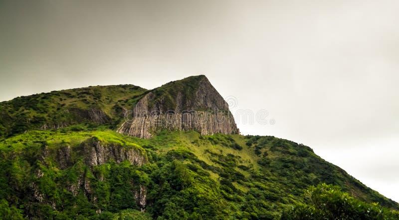 Vista panoramica alla scogliera di slogan del DOS Bordoes di Rocha aka al Flores, Azzorre, Portogallo immagini stock