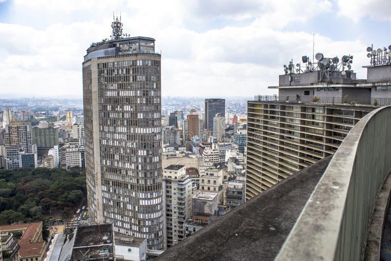 Vista panoramica dal terrazzo dell'edificio di Copan, fotografia stock libera da diritti
