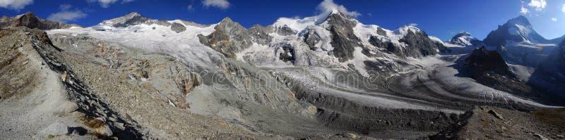 Vista panoramica dalla grande capanna di Mountet immagini stock libere da diritti