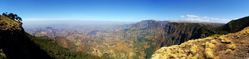 Vista panoramica dalle montagne di Simien immagine stock