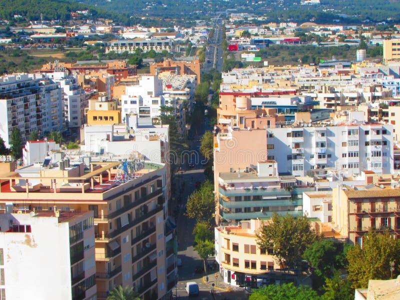 Vista Panoramica de Eivissa obraz stock